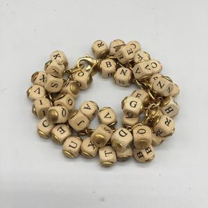 Lenora Dame Classic Alphabet Cluster Bracelet